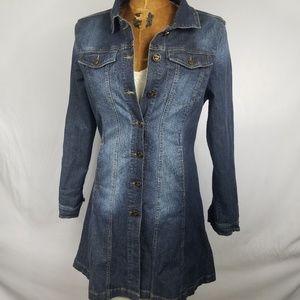 Indigo Rein Long Jean Jacket